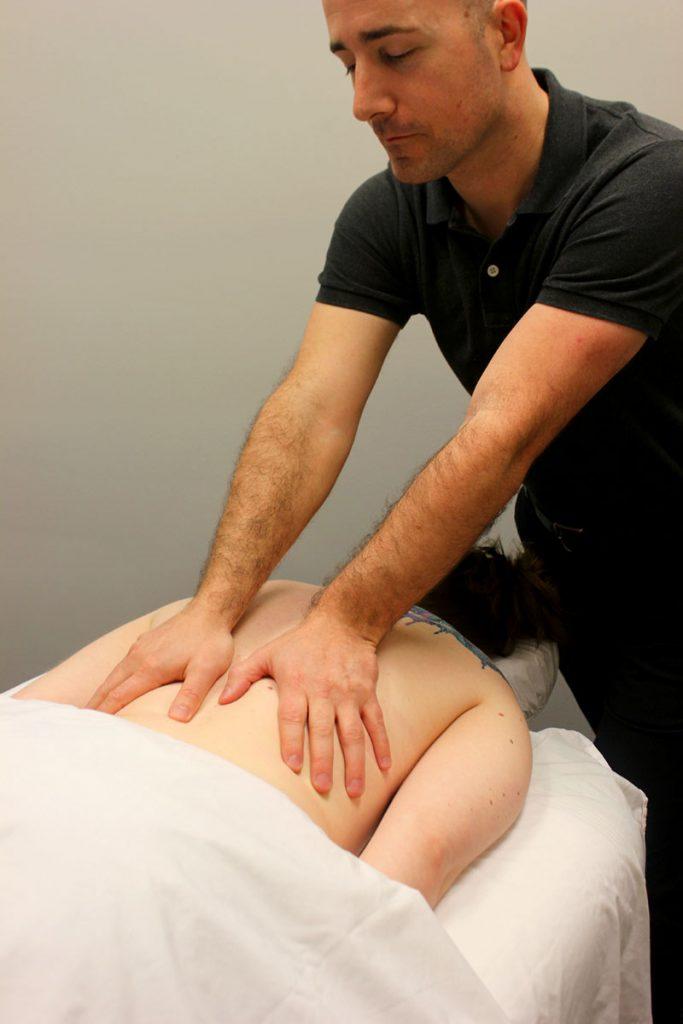 registered massage therapist Eric Purves gives Swedish massage